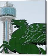 Dallas Pegasus Reunion Tower Green 030518 Canvas Print
