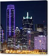 Dallas Purple Night 71417 Canvas Print