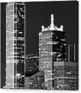 Dallas Shapes Monochrome Canvas Print