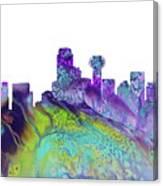 Dallas Skyline 4 Canvas Print