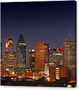 Dallas Skyline At Dusk  Canvas Print