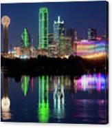 Dallas Skyline Reflection 91317 Canvas Print