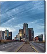 Dallas View At Dusk Canvas Print