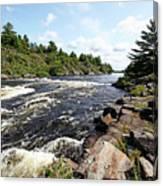 Dalles Rapids French River Iv Canvas Print