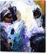 Dalmatian Dog Painting Canvas Print