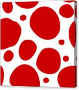 Dalmatian Pattern With A White Background 02-p0173 Canvas Print