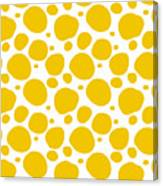 Dalmatian Pattern With A White Background 05-p0173 Canvas Print