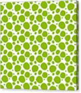 Dalmatian Pattern With A White Background 09-p0173 Canvas Print