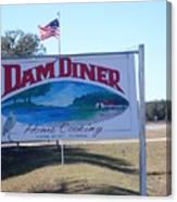 Dam Diner Canvas Print