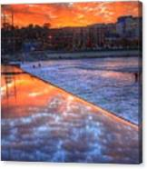 Dam Reflection Canvas Print