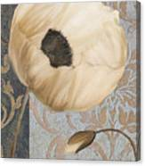 Damask Poppy Canvas Print