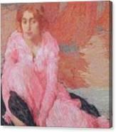 Dame En Rose Canvas Print