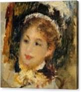 Dame En Toilette De Ville 1875 Canvas Print