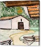 Dan Lawson Barn Canvas Print