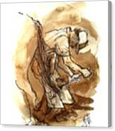 Dan The Farrier At The Morgan Horse Ranch Prns Canvas Print