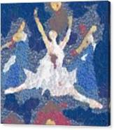 Dance Abstract In The Mix Canvas Print