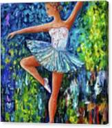 Dance In The Rain Of Color  Canvas Print