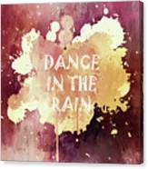 Dance In The Rain Red Version Canvas Print
