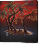 Dance Of The Coconut Palms Canvas Print