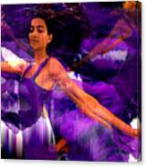 Dance Of The Purple Veil Canvas Print