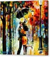 Dance Under The Rain Canvas Print