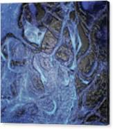 Dancer In Blue Canvas Print