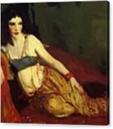 Dancer Of Delhi Betalo Rubino 1916 Canvas Print