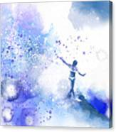 Dancer On Water 1 Canvas Print