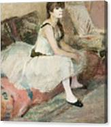 Dancer Seated On A Pink Divan 1884 Canvas Print