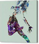 Dancer Watercolor Canvas Print