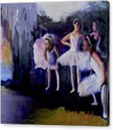 Dancers Backstage Canvas Print
