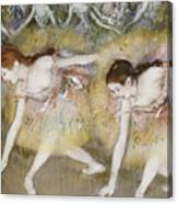 Dancers Bending Down Canvas Print