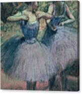Dancers In Violet  Canvas Print