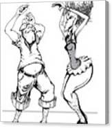Dancin Fools Canvas Print