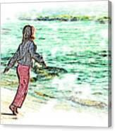 Dancin' With The Sunrise Canvas Print