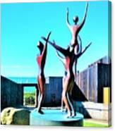 Dancing At Sea Ranch Canvas Print
