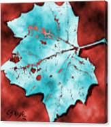 Dancing Blue Leaf Canvas Print