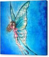 Dancing Fairy In Blue Sky Canvas Print