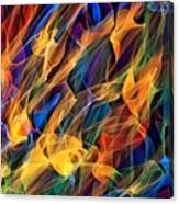 Dancing Flames Canvas Print