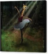 Dancing Giraffe Canvas Print