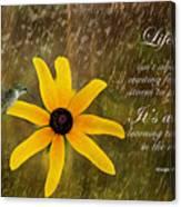 Dancing In The Rain Print Canvas Print