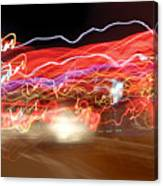 Dancing Light Streaks-2 Canvas Print