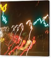 Dancing Light Streaks Canvas Print