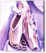 Dancing Pearls Ballet Slippers  Canvas Print