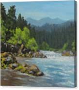 Dancing River Canvas Print