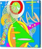 Dancing Spirals 2 Canvas Print