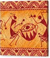 Dancing Warlis Canvas Print