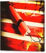 Danger Bomb Background Canvas Print
