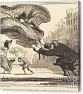 Danger De Porter Des Jupons-ballons... Canvas Print