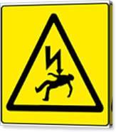 Danger Electricity Canvas Print
